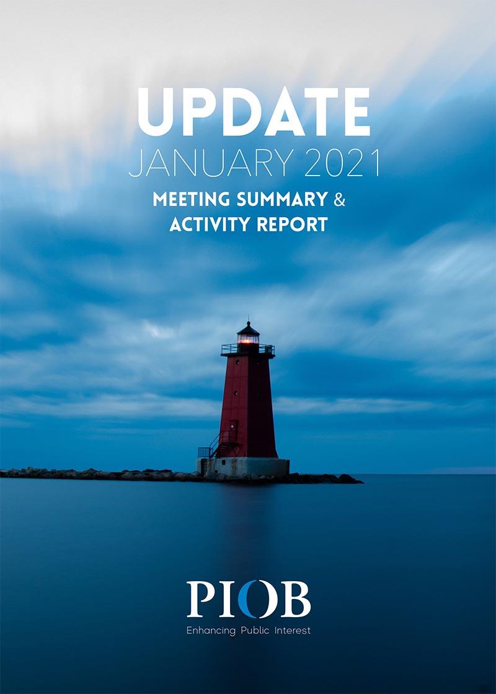 January update ipiob meeting summary and activity report 2